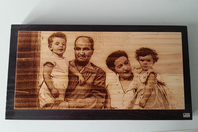 Fotograbado Familia Vintage