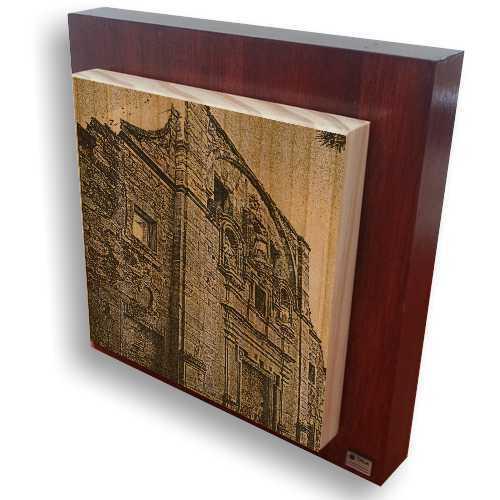 """Grabado en madera de """" El Convento de Santa Cruz de la Zarza"""""""