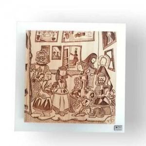 Fotograbado en madera de un dibujo
