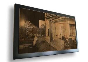 Fotograbado de aire vintage como elemento decorativo